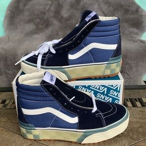 VANS SK8-HI STACKED LX SUEDE/CANVAS CHECKERBD/NVYW